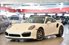 2014 White Porsche 911 Turbo S Coupe