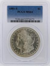 1881-S PCGS MS64 Morgan Silver Dollar