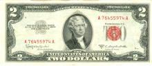 1953-C $2 XF/AV Red Seal Note