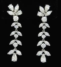 8.75 ctw Diamond Earrings - Platinum