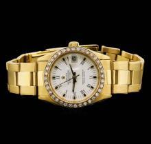 Rolex Midsize DateJust 18KT Yellow Gold 0.76 ctw Diamond Watch