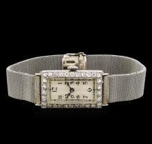 Ladies Vintage Platinum 0.52 ctw Diamond Watch