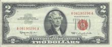 1963 $2 XF/AV Red Seal Note