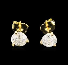 1.68 ctw Diamond Earrings - 14KT Yellow Gold