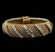 3.01 ctw Diamond Bracelet Style Ladies Watch - 14KT Yellow Gold