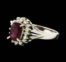 1.17 ctw Ruby and Diamond Ring - Platinum