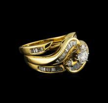 1.25 ctw Diamond Wedding Ring Set - 14KT Yellow Gold