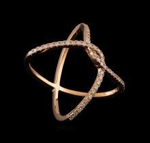 0.36 ctw Diamond Ring - 14KT Rose Gold