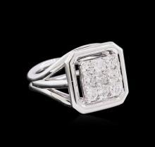 0.77 ctw Diamond Ring - 14KT White Gold