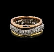 14KT Tri-Color Gold 0.49 ctw Diamond Ring
