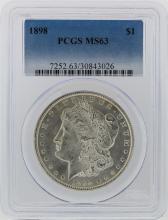 1898 PCGS MS63 Morgan Silver Dollar