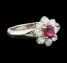Ruby and Diamond Ring - Platinum