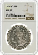 1882-O NGC MS63 Morgan Silver Dollar