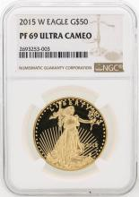 2015-W NGC PF69 Ultra Cameo $50 Eagle Gold Coin