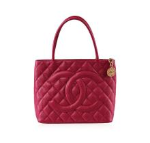 Authentic Chanel Pink Alligator Leather Bag