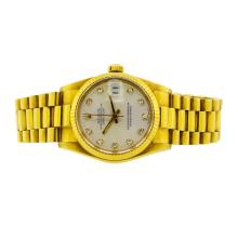 Rolex 18KT Yellow Gold DateJust Midsize Watch