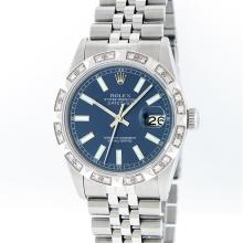 Rolex Stainless Steel Diamond DateJust Men's Watch