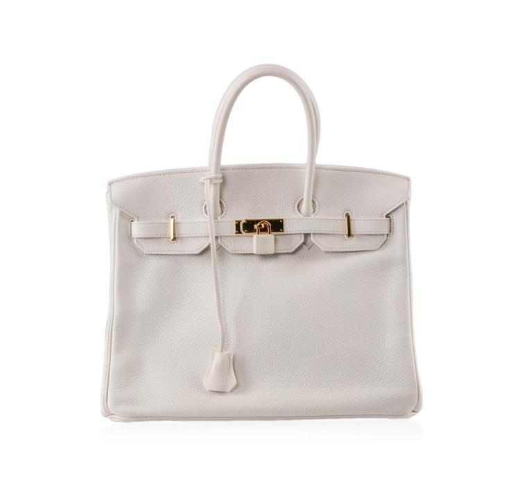 Hermes Birkin Craie Togo Leather Bag