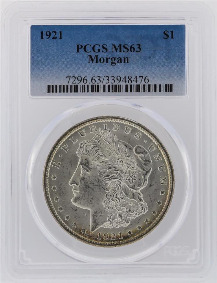 1921 PCGS MS63 Morgan Silver Dollar