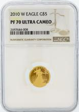 2010-W NGC PF 70 Ultra Cameo $5 American Eagle Gold Coin