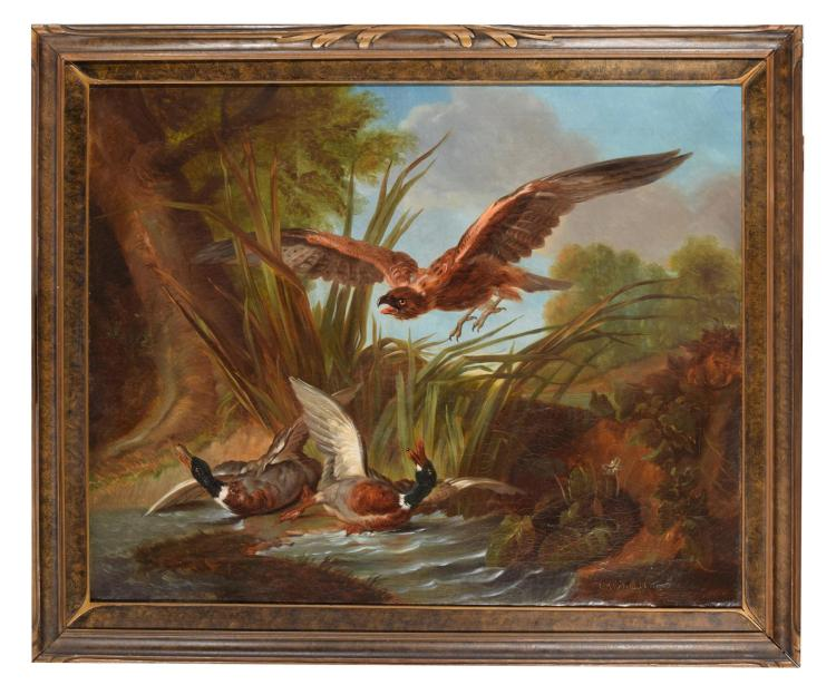 GAMEHAWKING (EUROPEAN, 19TH CENTURY).