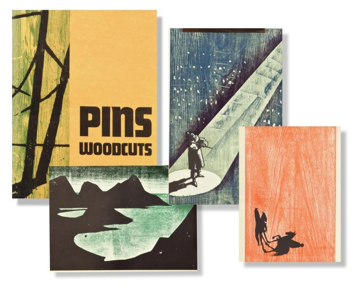 WOODCUT PORTFOLIO BY JACOB PINS (GERMAN-ISRAELI, 1917 - 2005).