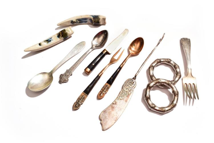 MISCELLANEOUS SILVER FLATWARE.