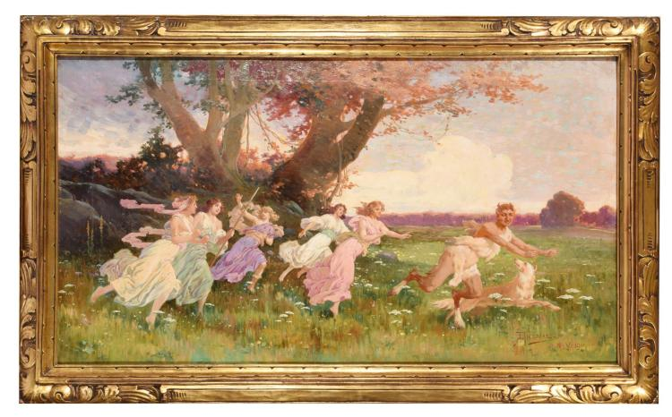 PAN AND HIS NYMPHS (AMERICAN SCHOOL, EARLY 20TH CENTURY).