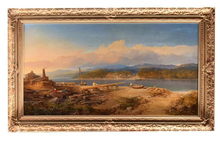 ON THE CONWAY BY EDMUND JOHANN NIEMANN (ENGLISH, 1813-1976).