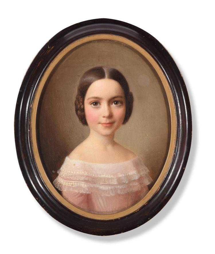PORTRAIT OF A YOUNG GIRL (GERMAN SCHOOL, MID 19TH CENTURY).