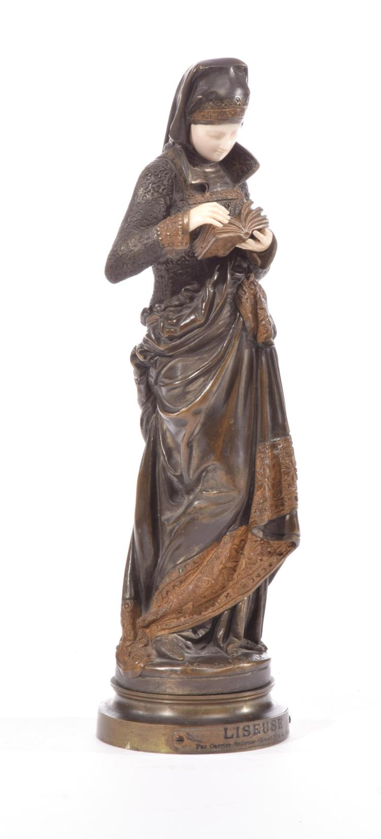 BRONZE FIGURE BY A. CARRIER-BELLEUSE (FRENCH, 1824-1887).