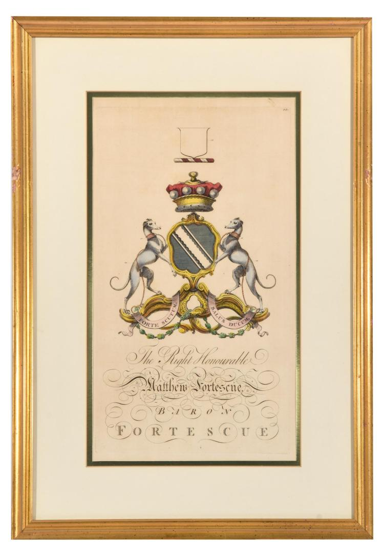 FORTESCUE COAT OF ARMS FROM JOSEPH EDMONDSON''S