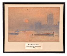 SUNSET AND FOG (WESTMINSTER) ATTRIBUTED TO ROSE MAYNARD BARTON (ANGLO-IRISH, 1856-1929).