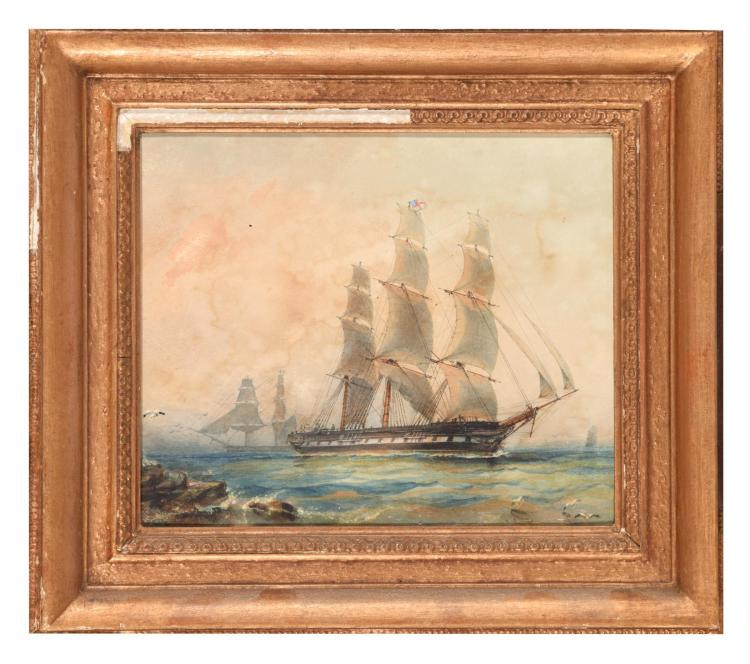 SCHOONERS ON THE COAST (ENGLISH SCHOOL, LATE 19TH - EARLY 20TH C.)