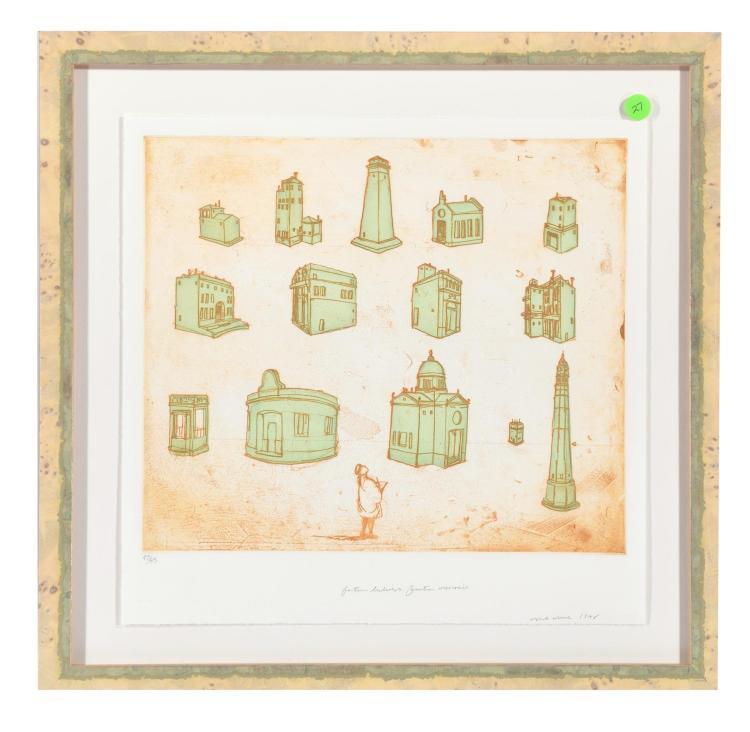 IMAGINED CITY: FOURTEEN BUILDINGS, FOURTEEN MEMORIES BY LESLIE LERNER (AMERICAN, 1949-2005).