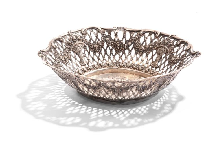 RETICULATED SILVER BOWL.