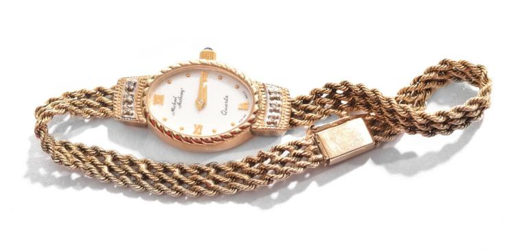 MICHAEL ANTHONY 14K WOMENS WATCH.