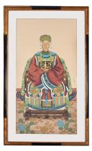 PORTRAIT OF CHINESE FEMALE NOBILITY.