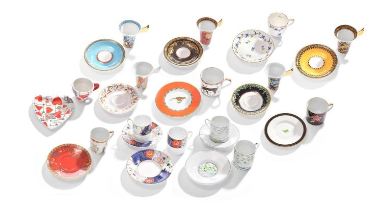 DEMITASSE CUP AND SAUCER COLLECTION.