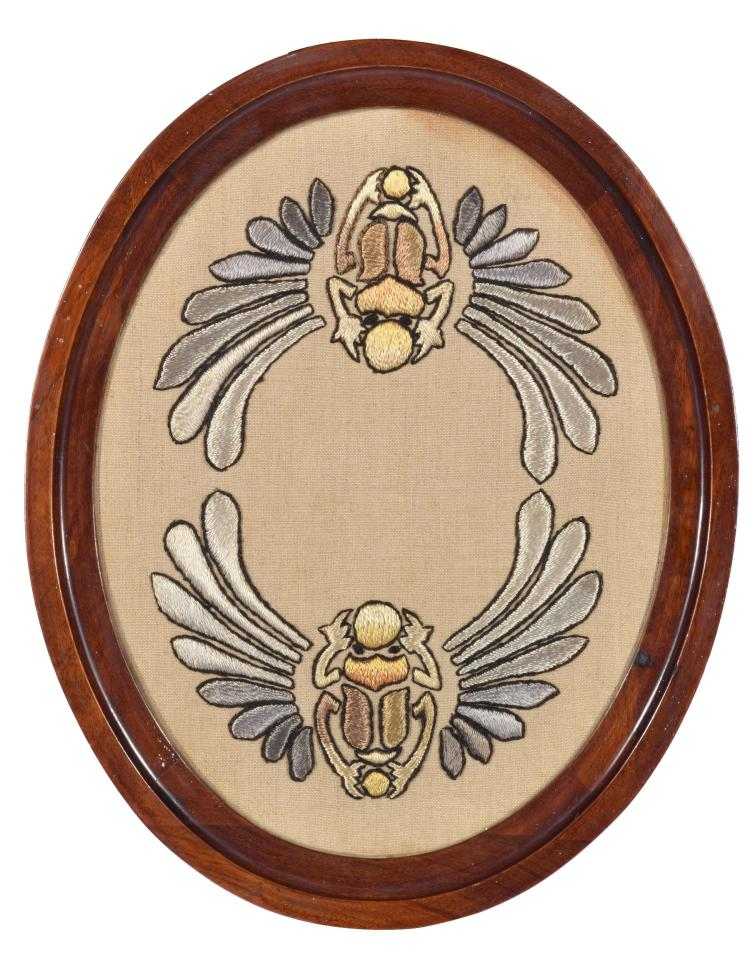 VICTORIAN SCARAB SERVING TRAY.