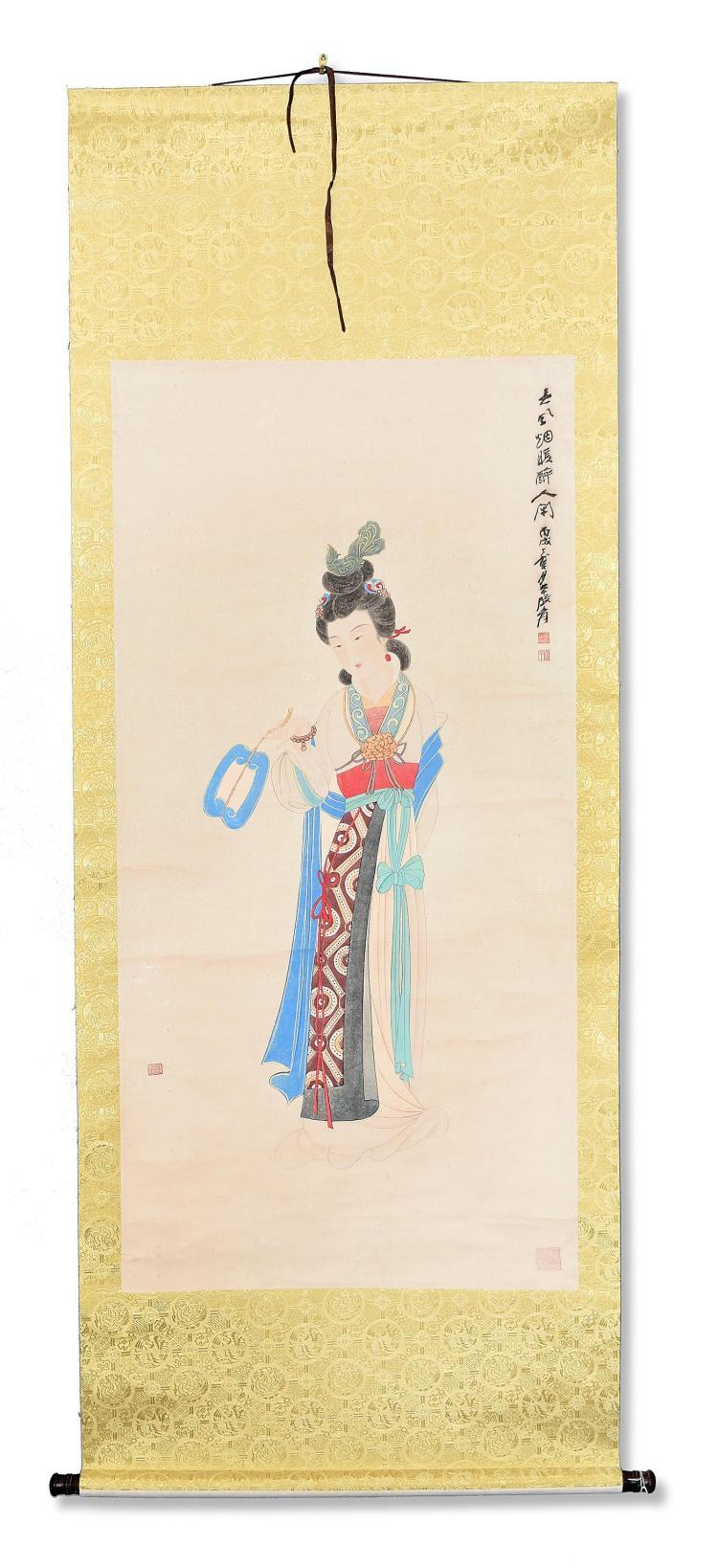 BEAUTY BY ZHANG DAQIAN (CHINESE, 1899-1983).