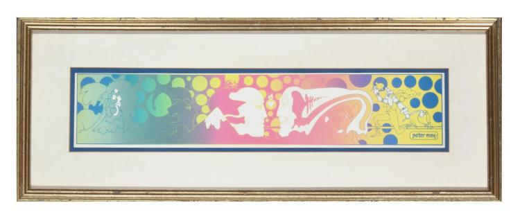 PSYCHEDELIC SCREENPRINT BY PETER MAX (AMERICAN, 20TH CENTURY).