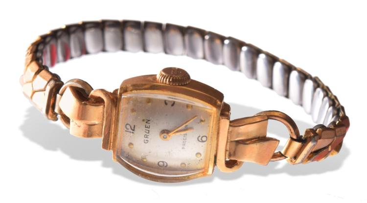 GRUEN 14K WOMEN''S WATCH.