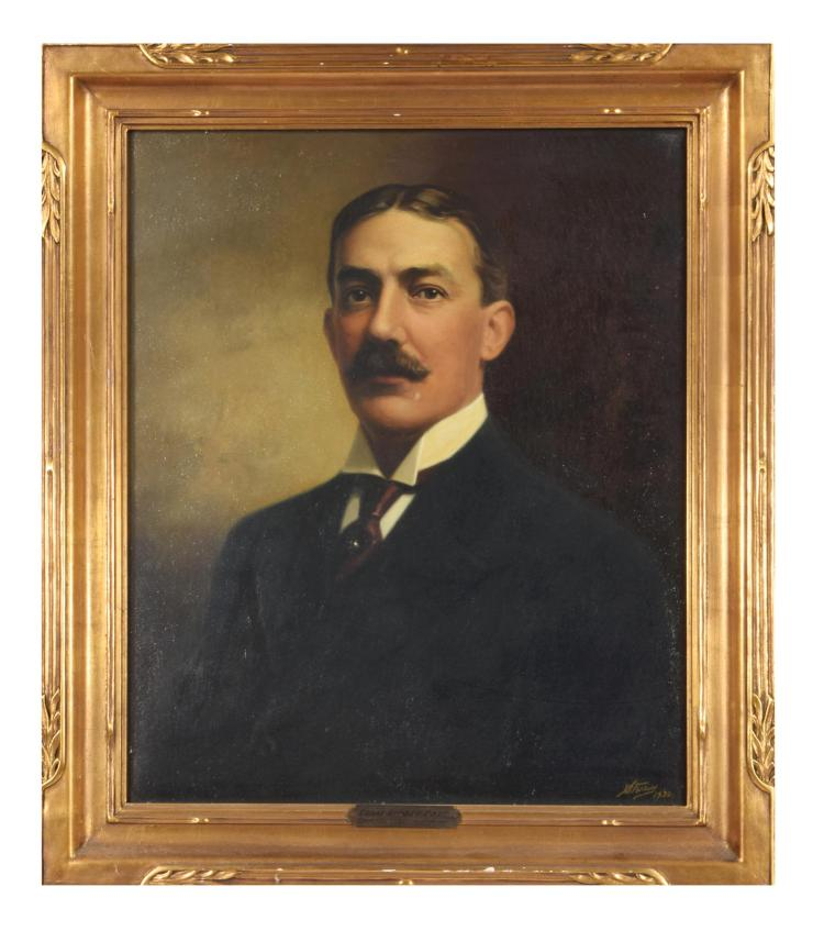 PORTRAIT OF EDGAR EUGENE RAND (AMERICAN SCHOOL, EARLY 20TH CENTURY).