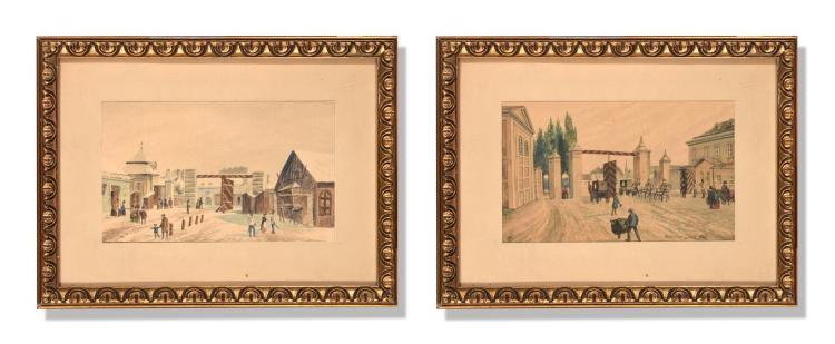 PAIR OF WORKS BY MAX NEUBAUER (AUSTRIAN 19-20TH CENTURY).