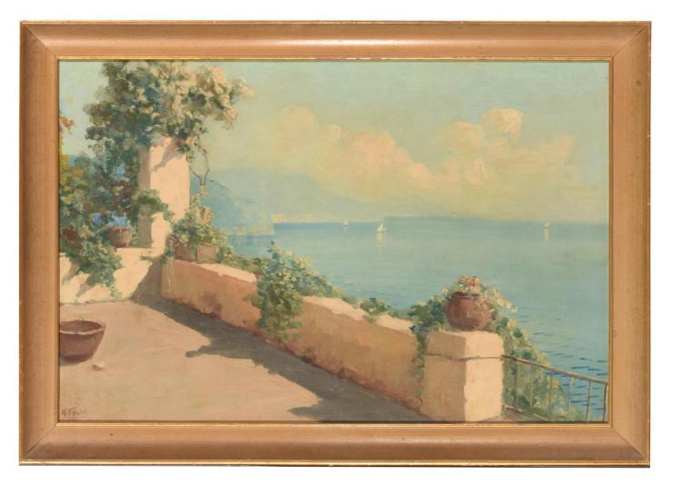 VIEW FROM A VILLA AFTER ALBERTO PASINI (ITALIAN 1826-1899).
