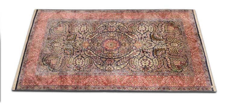 HAND WOVEN PERSIAN DESIGN HALL RUG.