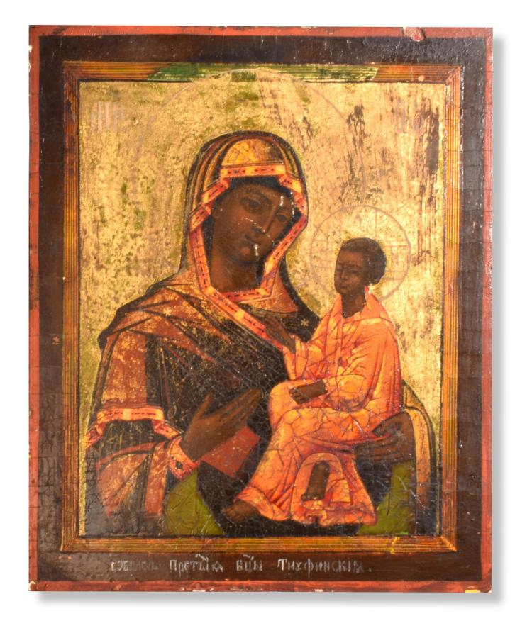 BLACK MADONNA ICON (RUSSIA, LATE 19TH- EARLY 20TH CENTURY).