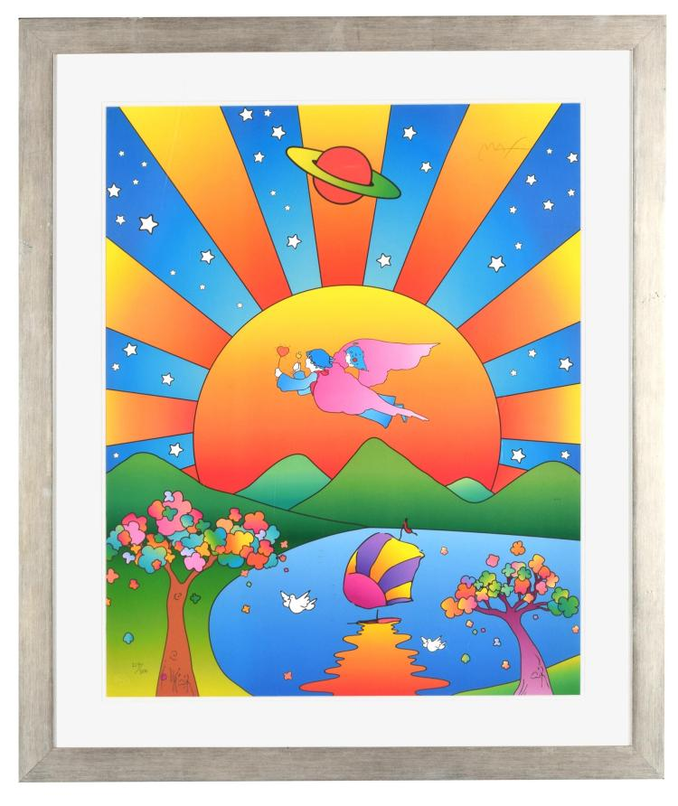 UNIVERSAL HARMONY BY PETER MAX (AMERICAN, B. 1937).