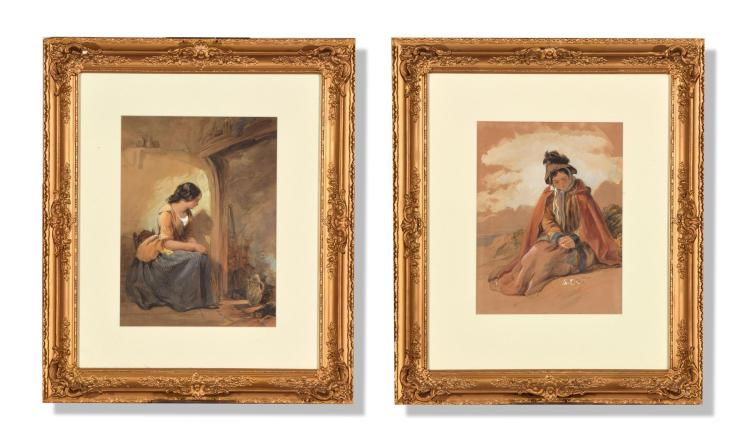PAIR OF WATERCOLORS (CONTINENTAL SCHOOL, LATE 19TH CENTURY).